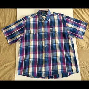 Wrangler Pink White Cowboy Western Shirt Sz XL